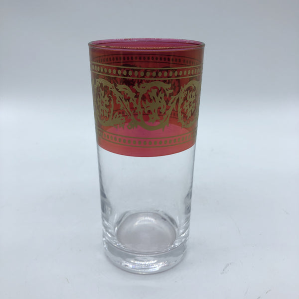 Moroccan Drinking Glass - Red