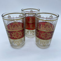 Moroccan Tea Glasses - Tunis Red