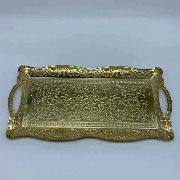 Turkish Metal Tray - Gold