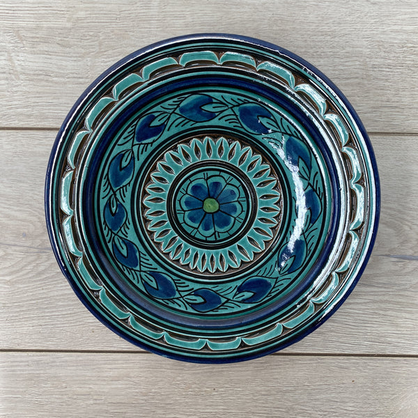 Moroccan Plate - Safi, Turquoise 8