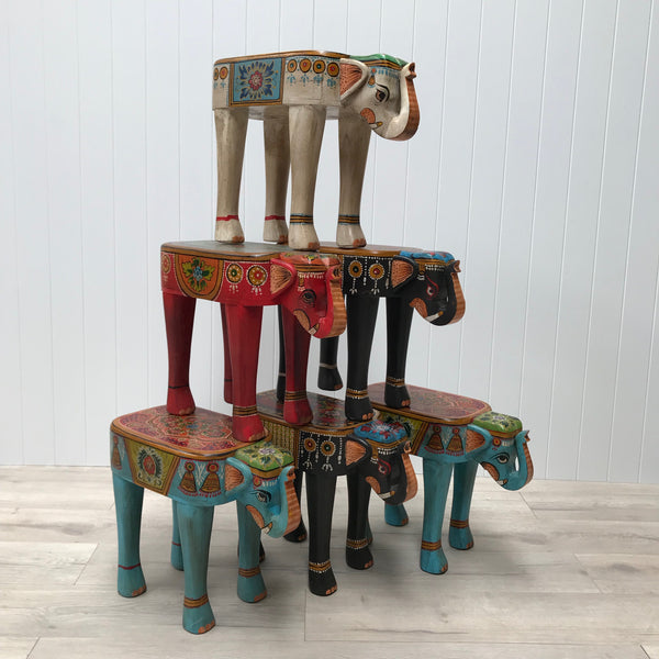 Painted Elephant Stools