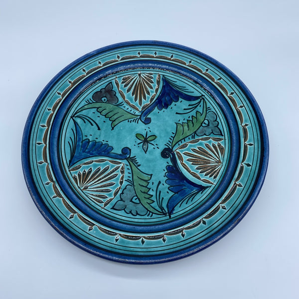 Moroccan Plate - Safi, Turquoise 10