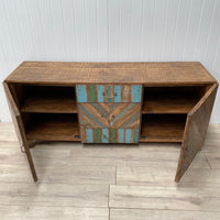 Recycled Wood Low Sideboard