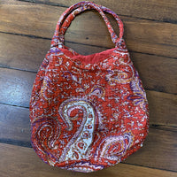 Cotton Bag - Red Paisley