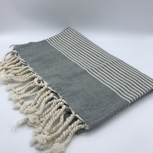 Turkish Towel Stripes Grey