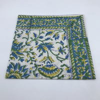 Napkin Large Blue and Yellow Carnation