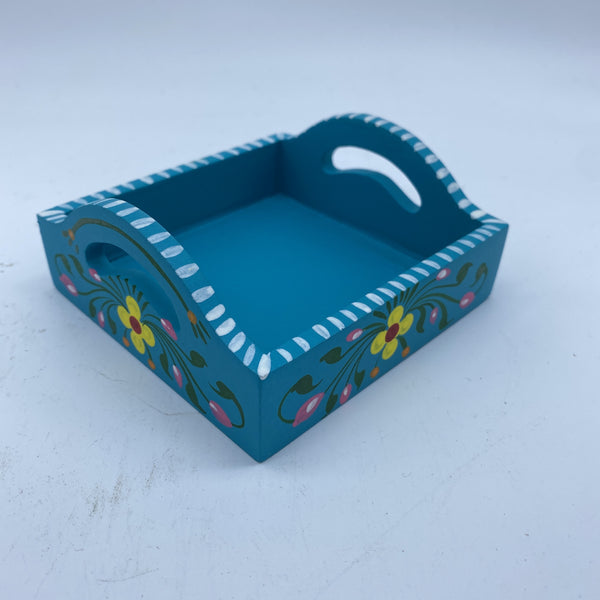 Wooden Tray - Turquoise