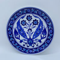 Turkish Plate  - Blue Tulip, 22cm