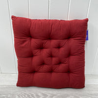 Indian Brocade Cushion - Red