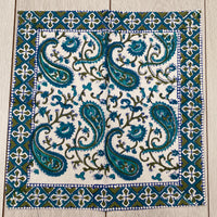 Napkin - Large, Teal Paisley