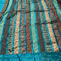 Indian Brocade Quilt - Sea Green