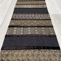 Indian Table Runner - Black and Gold