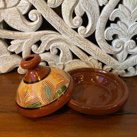 Moroccan Cooking Tajine - 21cm, Round Painted