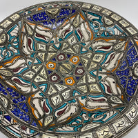 Moroccan Bone Inlay Plate - Flower, 40cm