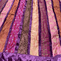Indian Brocade Quilt - Purple and Pink