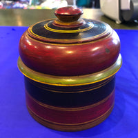 Wooden Round Box - Large - Red