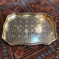 Moroccan Ornate Metal Tray