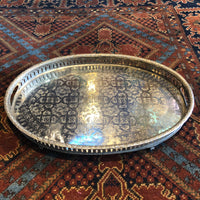 Moroccan Metal Serving Tray - Large