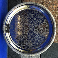 Moroccan Silver Tray with Legs - 43cm - Round