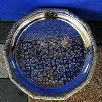 Moroccan Silver Tray with Legs - 43cm - Decagon