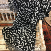 Wool Throw - Black & Grey