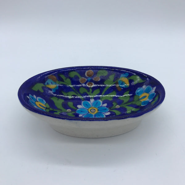 Soap Dish Small - Blue Flower