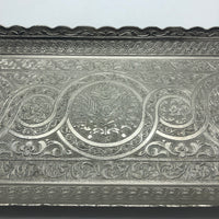 Turkish Metal Tray - Silver 2