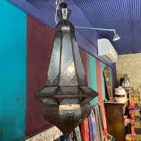 Moroccan Lantern - Clear Patterned Glass