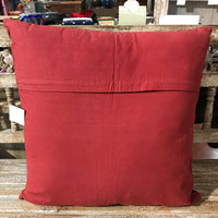 Patchwork Cushion - Red