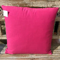Embroidered Cushion - Pink Large