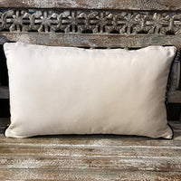 Embroidered Cushion - Black & Grey