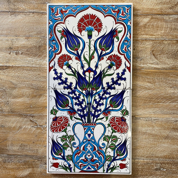 Turkish Tile Scene - Tulips in Vase