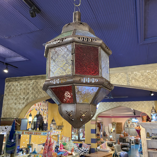 Moroccan Hanging Lantern - 8, Medium