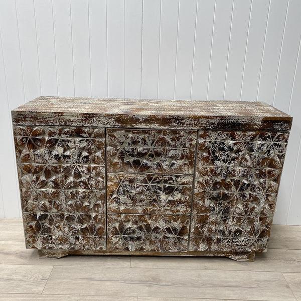Carved Wooden Sideboard