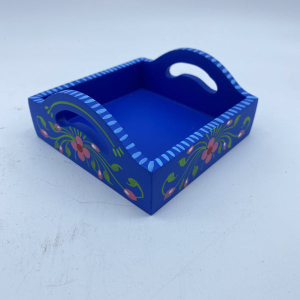 Wooden Tray - Blue