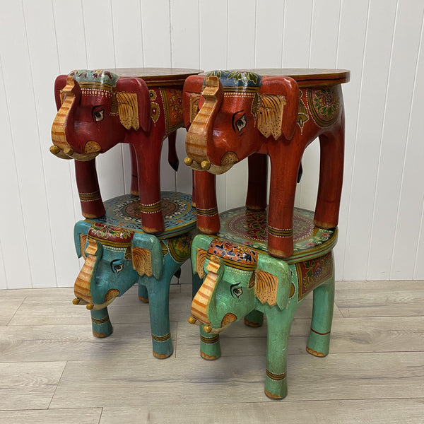 Painted Elephant Table
