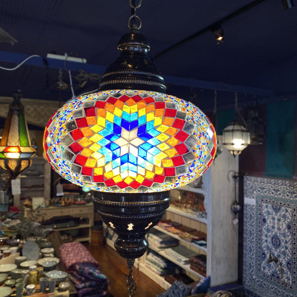Turkish Mosaic Hanging Lamp - Star 10