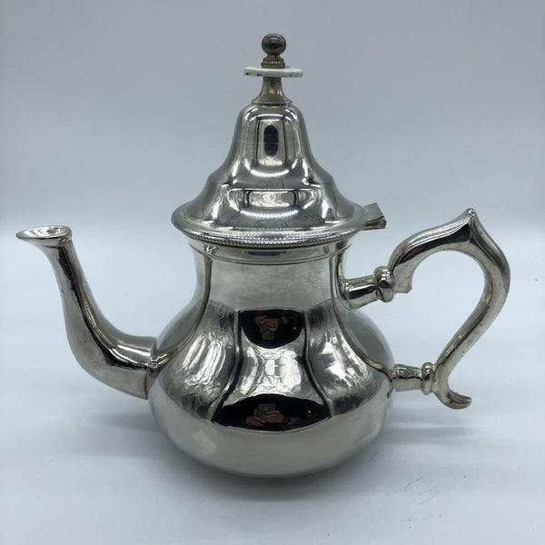 Moroccan Tea Pot - Silver - Large