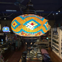 Turkish Mosaic Hanging Lamp - Multi