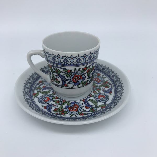Turkish Coffee Cup - Floral