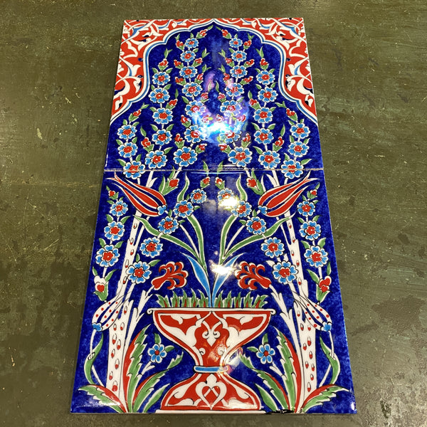 Turkish Tile - 2 pce Tulip and Vase 2