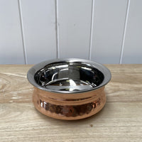 Copper and Stainless Steel Handi Bowl 15cm
