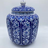 Turkish Ceramic Jar with Lid