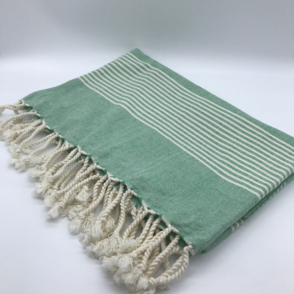 Turkish Towel Stripes Green