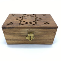 Wooden Box - Rectangular, Star