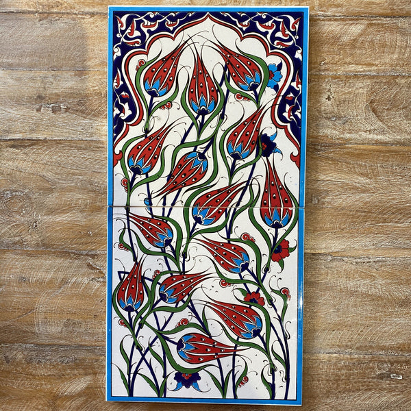 Turkish Tile Scene - Tulips