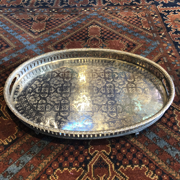 Moroccan Metal Serving Tray