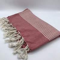 Turkish Towel Stripes Red