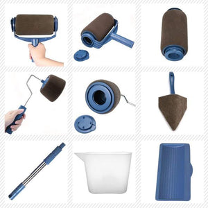 Final sale!!! 8Pcs/set Multifunctional Wall Decorative Paint Roller Brush Tools