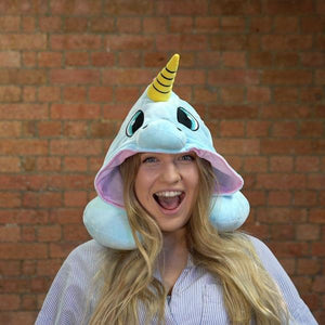 [Hot Selling 20,000 Items]HOODED UNICORN TRAVEL PILLOW[Objects will arrive before Christmas]